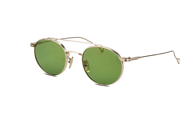 Dita Journey gold and vintage green sunglasses