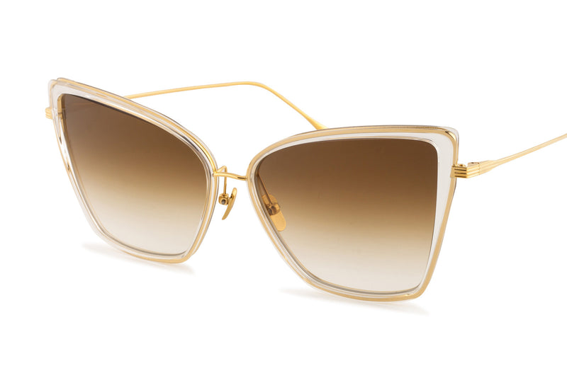 Dita Sunbird gold and clear sunglasses