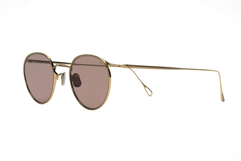 Eyevan 156(48) gold pink sunglasses