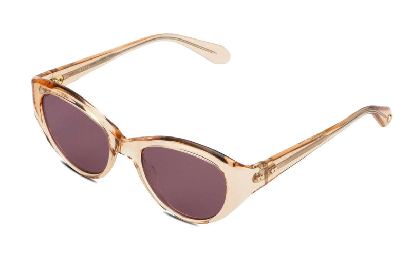 garrett leight del rey pink crystal sunglasses