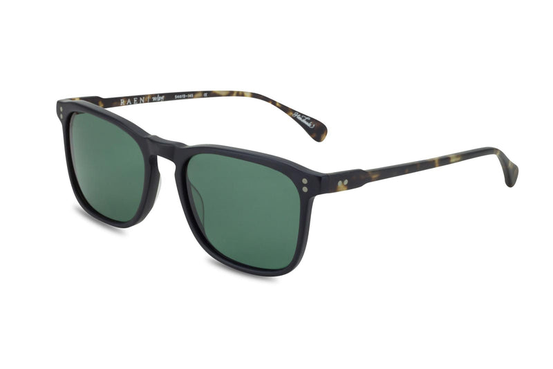 Raen Wiley black and green lens sunglasses