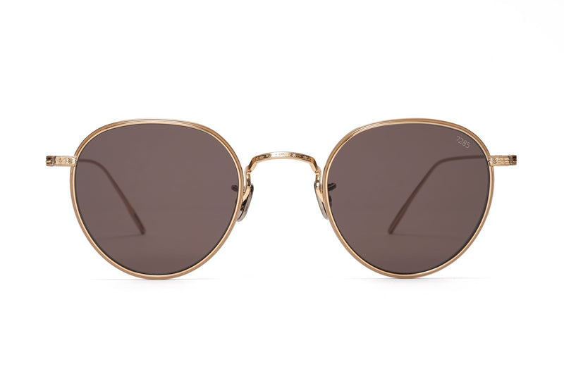 eyevan 539 gold sunglasses miami