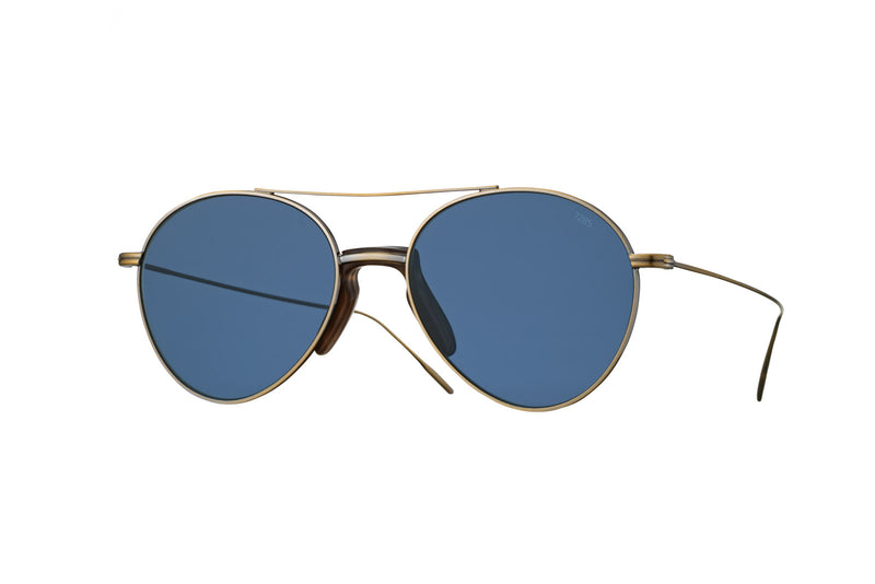 eyevan 716 aviator antique gold sunglasses