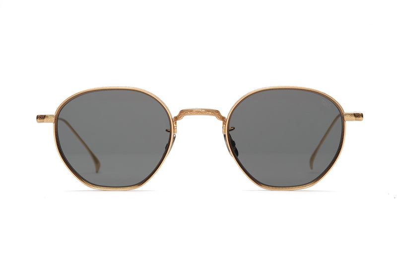 eyevan 7285 163 gold sunglasses miami