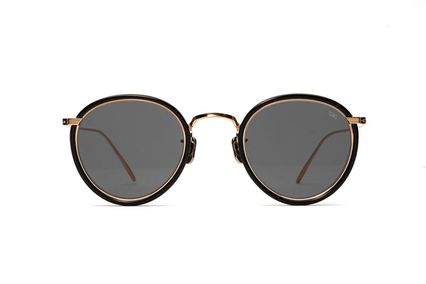 eyevan 7285 717 sunglasses black and gold