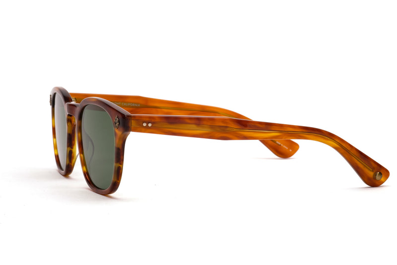 garrett leight ace honey amber tortoise sunglasses miami