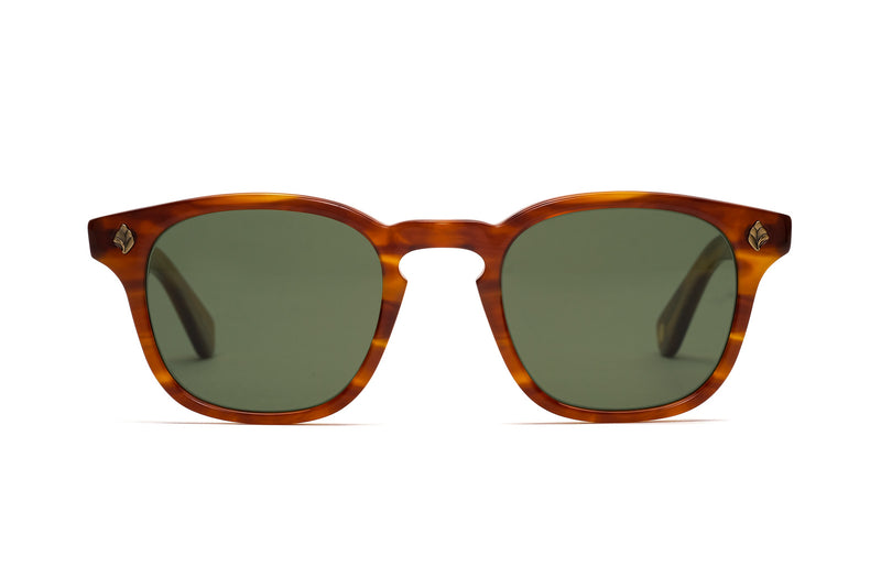 garrett leight ace honey amber sunglasses miami