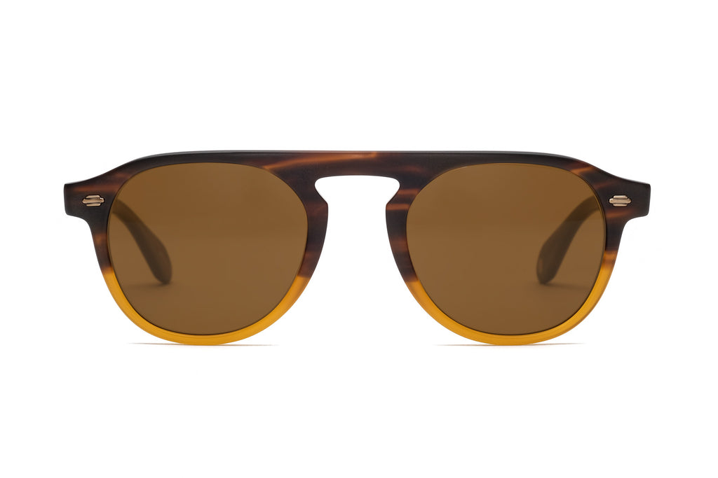 Garrett Leight Harding Matte Brown Sunglasses