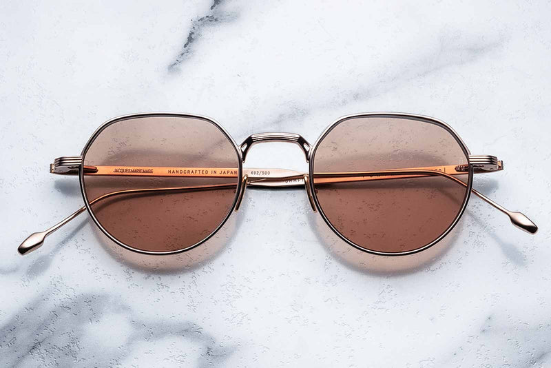 jacques marie mage fontana rose gold sunglasses