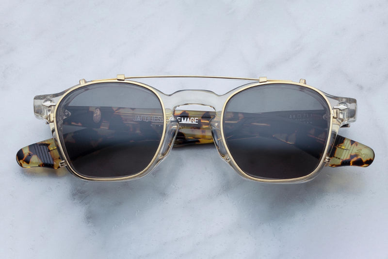 jacques marie mage zephirin gold clip on sunglasses