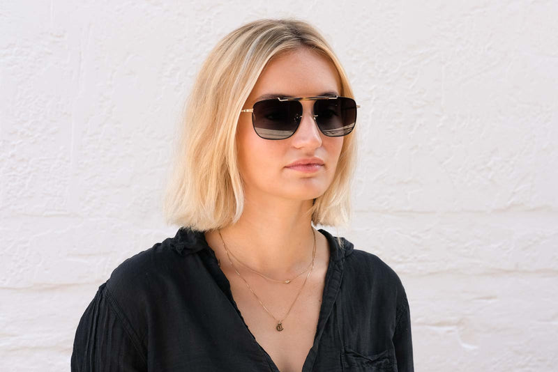 krewe avalon matte black sunglasses