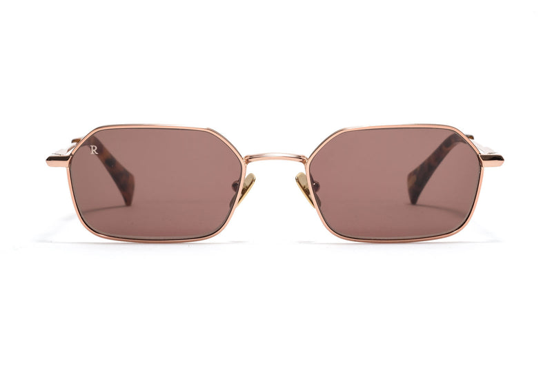 Raen Hewes Shiny Gold Sunglasses