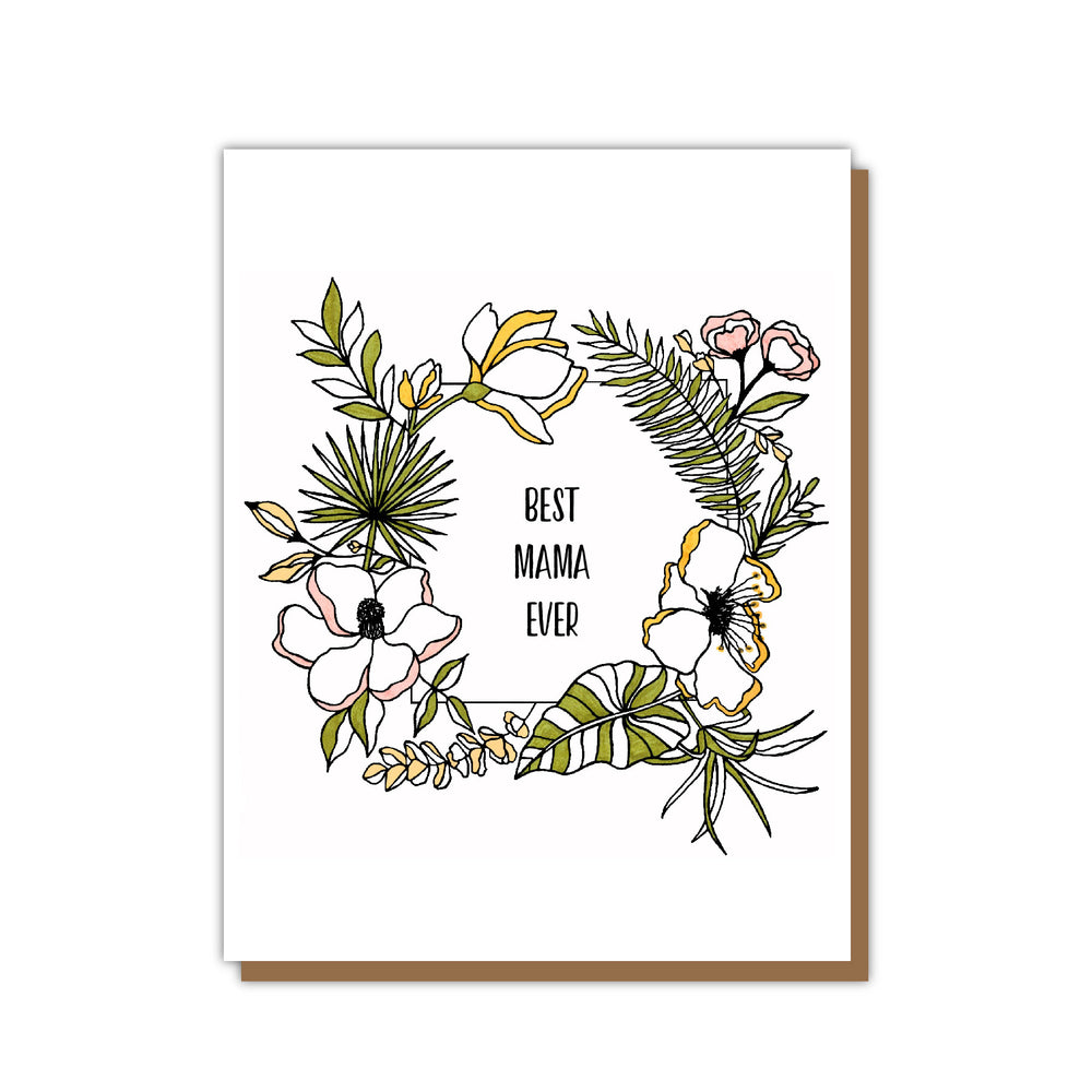 Best Mama Ever Mothers Day Greeting Card Teluna