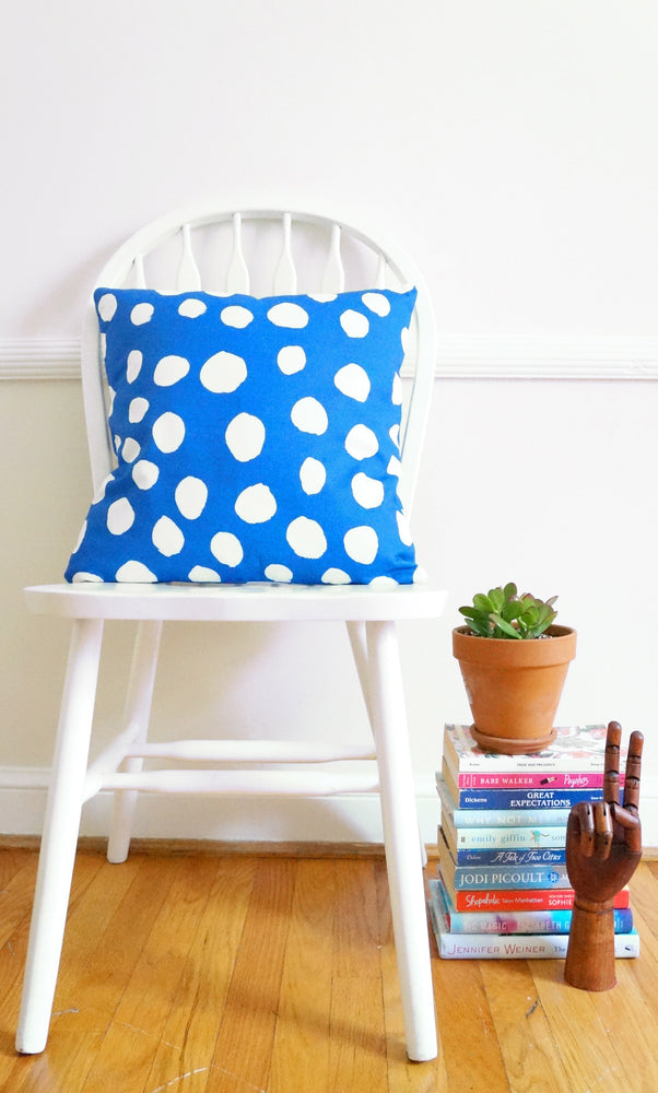 Blue Dots Pillow