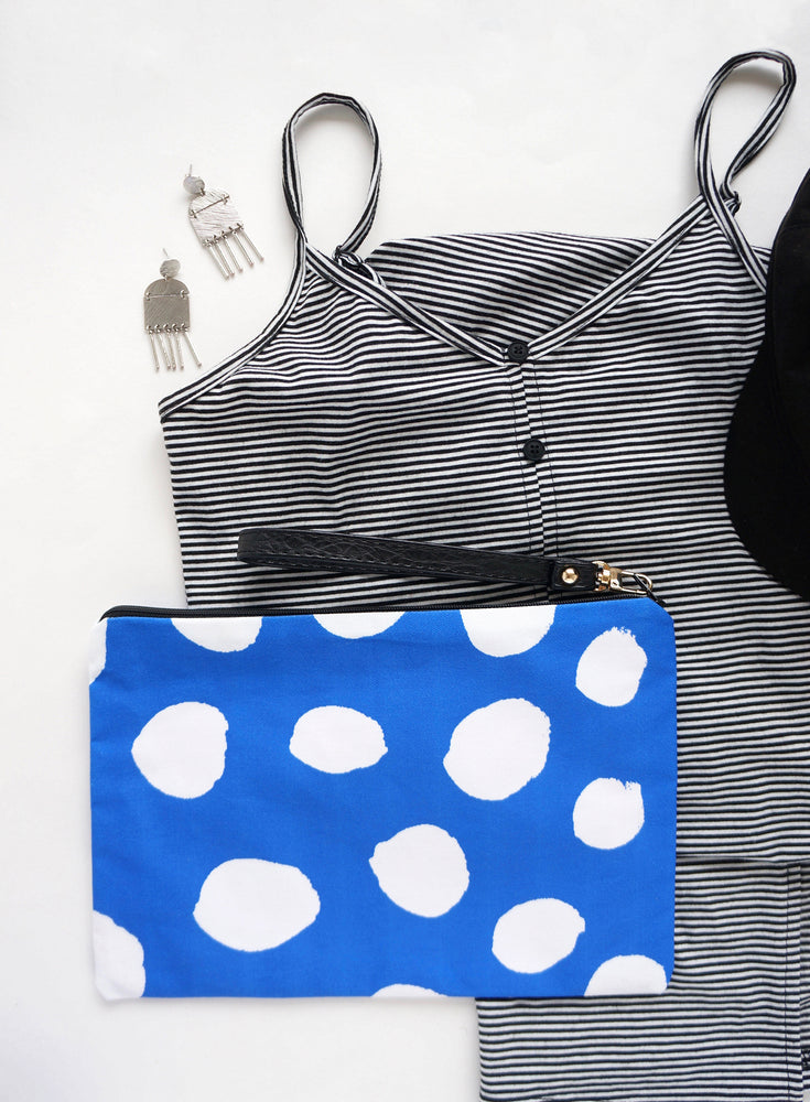 Blue Dots Clutch