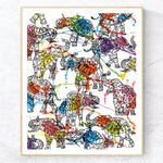 Elephants Crossing - Print