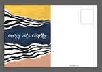 Every Vote Counts Postcard pack 4x6
