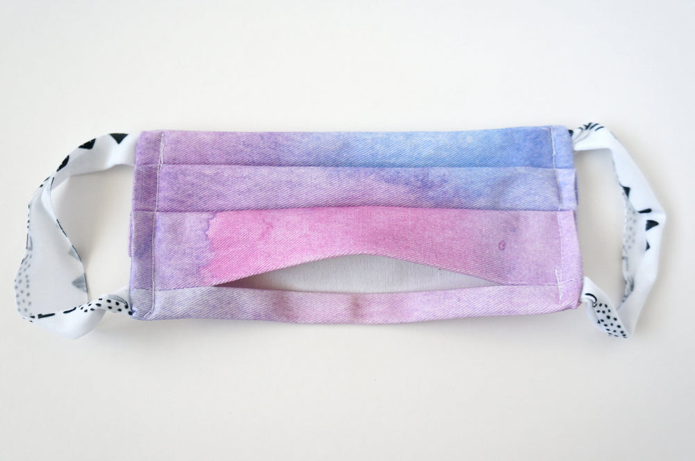 Tie Dye Fabric Face Mask