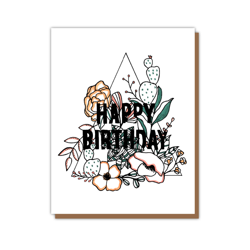 Happy Birthday Botanical Greeting Card Teluna