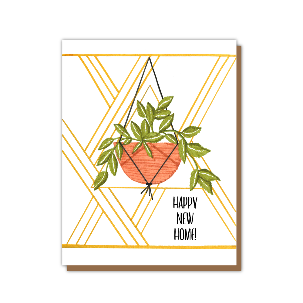 Happy New Home Card Plant Card