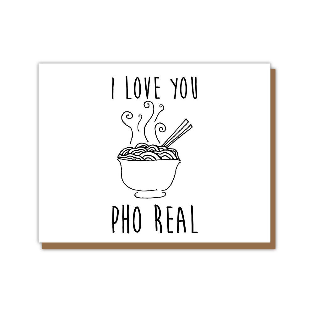 I love you Pho Real Card
