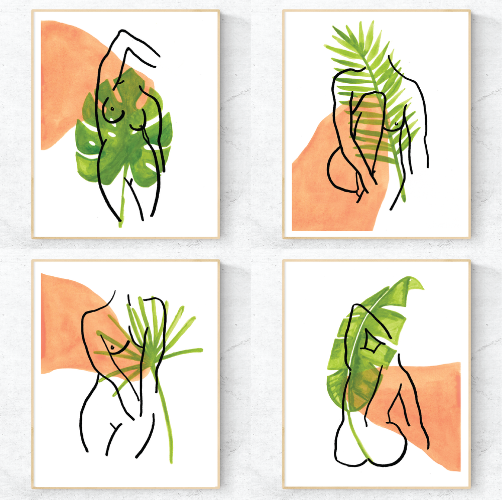 Jungle Woman Set of 4