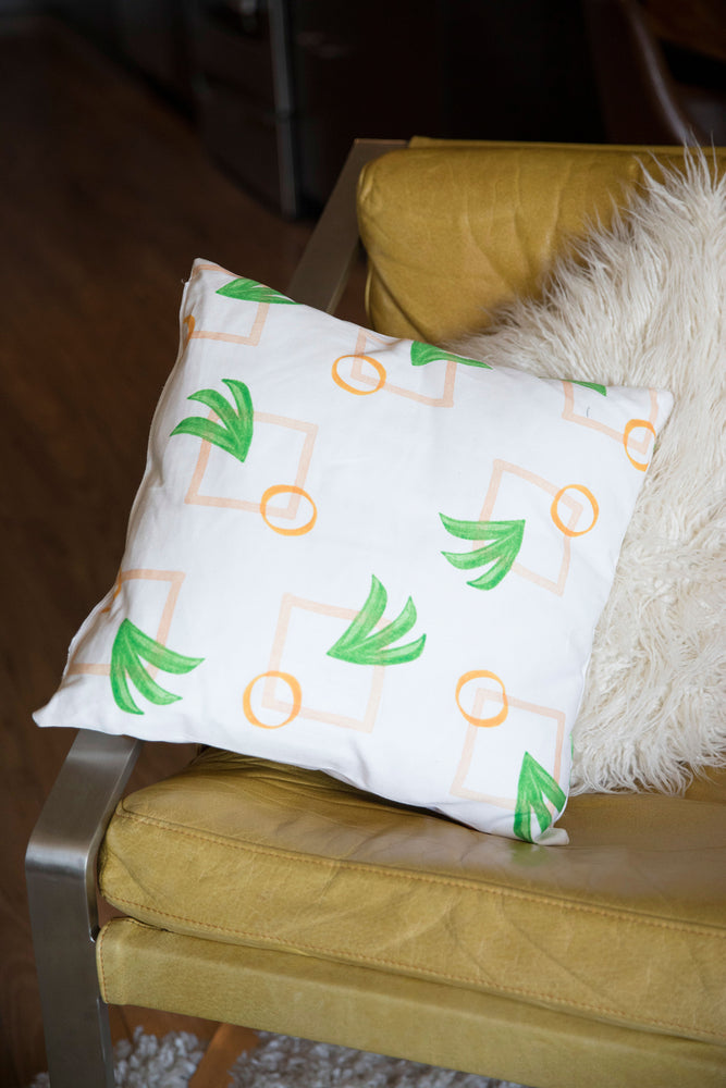 Modern Palm Pillow