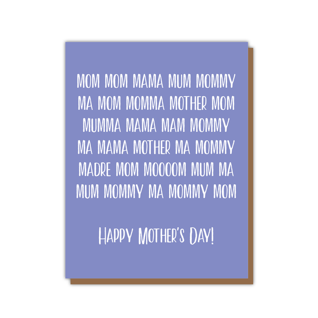 Mom Mama Mother's Day Card 1