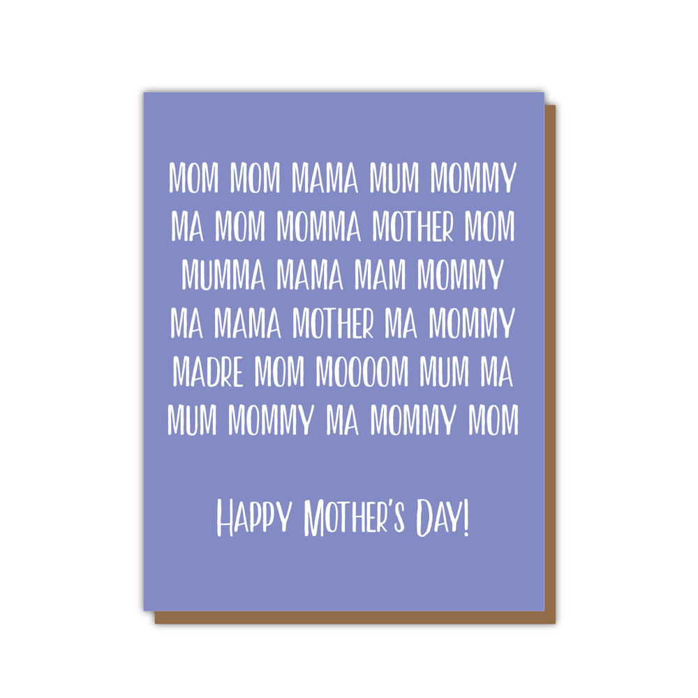 Mom Mama Mother's Day Card