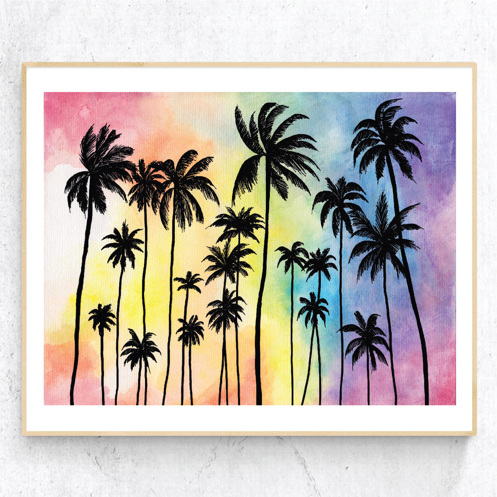 Palms Sunset - Print
