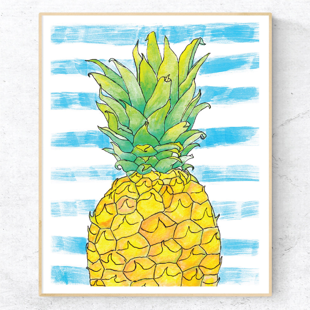 Pineapple Stripes - Print