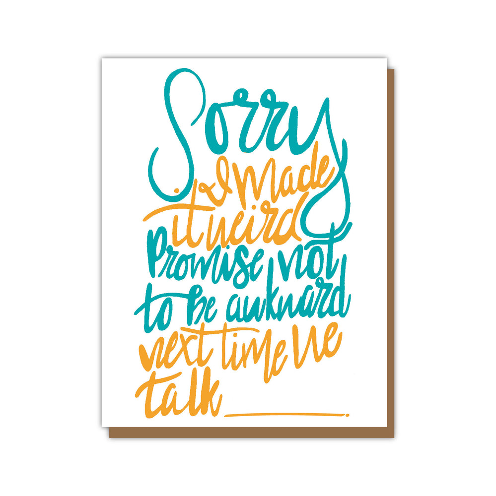 Sorry Awkward Empathy Greeting Card Teluna
