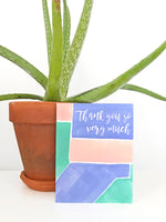 Thank You So Very Much Watercolor Greeting Card Teluna