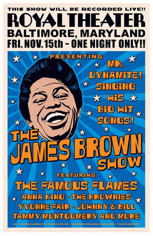 James Brown Poster 12x18