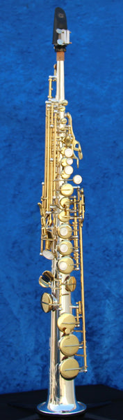 2016 Kenny G G-series IV Silver Body with Lacquered Keys Soprano Saxophone