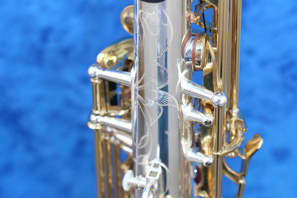 Kenny G G-series IV Silver Body with Lacquered Keys Soprano Saxophone