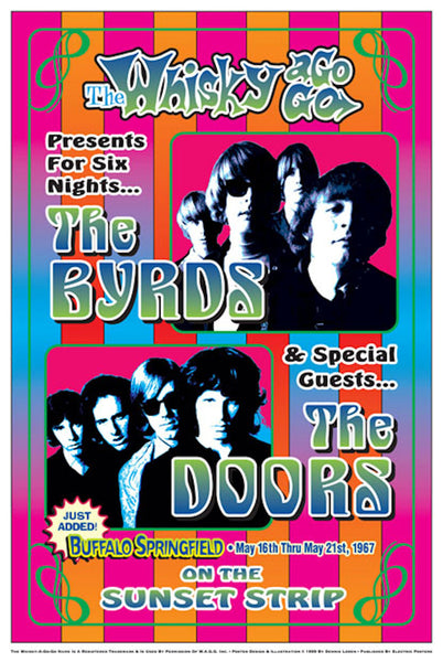 Byrds & Doors Whisky A-Go-Go  Poster