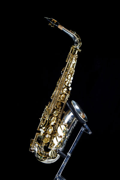 Kenny G E-Series IV Alto-Saxophone Lacquer Body & Keys with Silver Neck & Bell