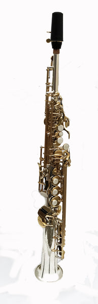 Kenny G ES-Series - Straight Bb Soprano Saxophone Silver Body/Lacquered Keys