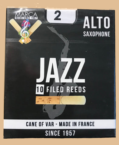MARCA Jazz Filed Reeds - Alto Saxophone 2.0 Box of 10