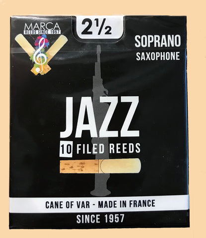 Marca Jazz Filed Reeds - Soprano Sax 2.5 Box of 10