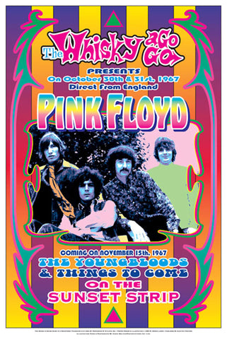 Pink Floyd  Whisky A-Go-Go Poster