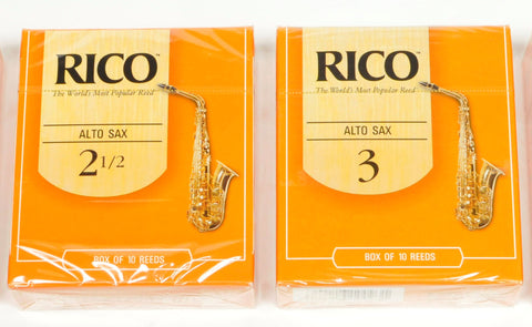 Classic Rico Orange Box of 10 Alto Sax Reeds