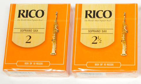 Classic Rico Orange Box of 10 Soprano Sax Reeds
