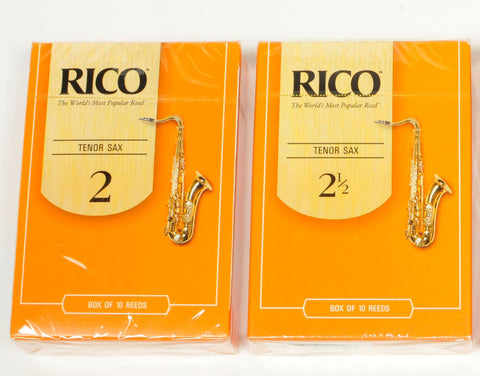 Classic Rico Orange Box of 10 Tenor Sax reeds