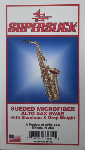 Superslick Sueded Microfiber Alto Saxophone Swab