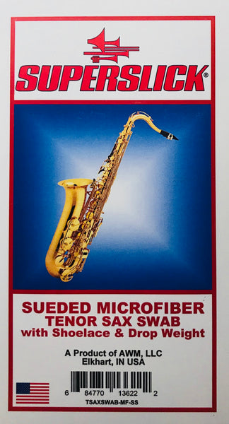 Superslick Sueded Microfiber Tenor Saxophone Swab