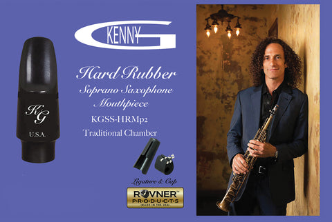 Kenny G Traditional Chamber Hard Rubber Soprano Saxophone Mouthpiece