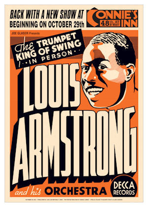 Louis Armstrong and His Orchestra Poster