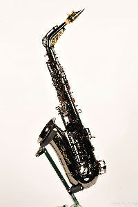 Black Diamond Professional- Black Nickel Body & Keys Alto Saxophone - Trade Show